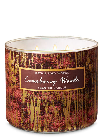 Cranberry Woods 3-Wick Candle - Bath And Body Works