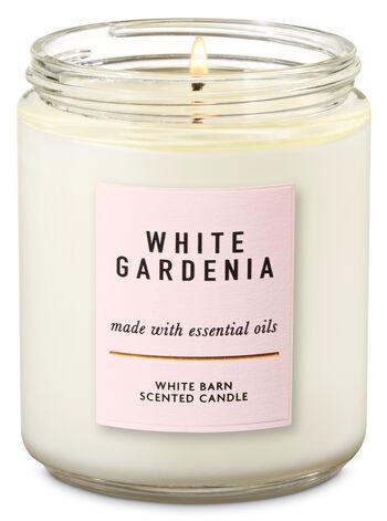 White Gardenia Single Wick Candle - Bath And Body Works