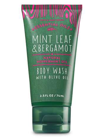 Mint Leaf & Bergamot Travel Size Body Wash - Bath And Body Works
