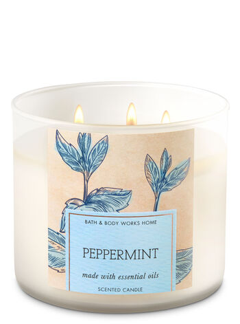 Peppermint 3-Wick Candle - Bath And Body Works