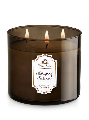 Mahogany Teakwood 3-Wick Candle - Bath And Body Works
