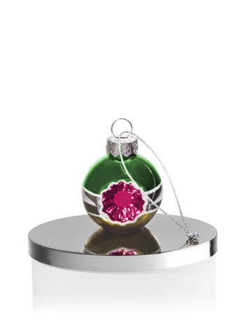 Green, Silver & Gold Ornament 3-Wick Candle Magnet - Bath And Body Works