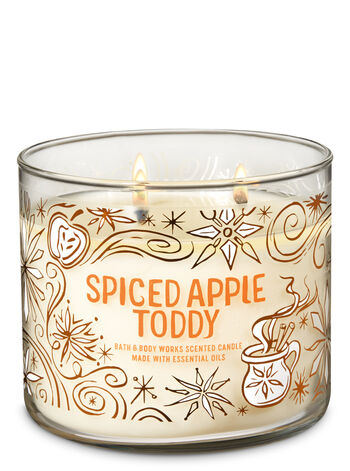 Spiced Apple Toddy 3-Wick Candle - Bath And Body Works