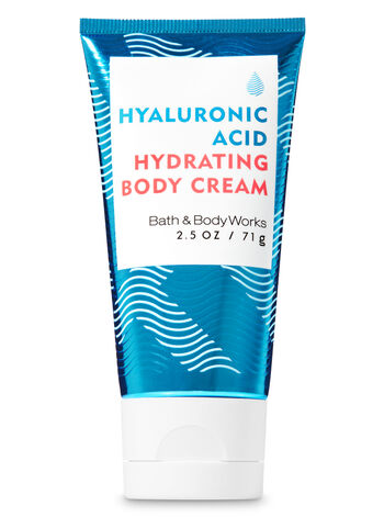 Water Travel Size Hyaluronic Acid Hydrating Body Cream - Bath And Body Works