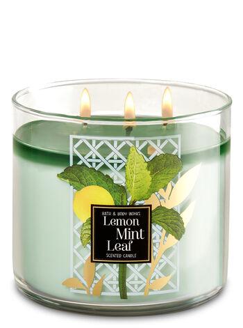 Lemon Mint Leaf 3-Wick Candle - Bath And Body Works