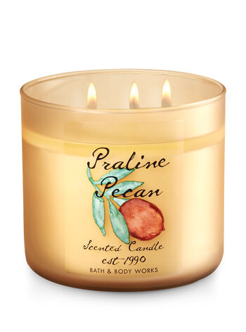 Praline Pecan 3-Wick Candle - Bath And Body Works