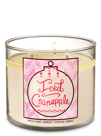 Iced Cranapple 3-Wick Candle - Bath And Body Works