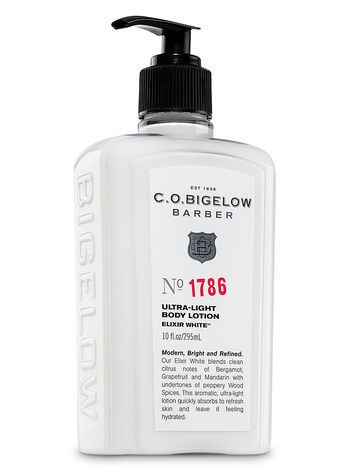 C.O. Bigelow Elixir White Men's Ultra-Light Body Lotion - Bath And Body Works