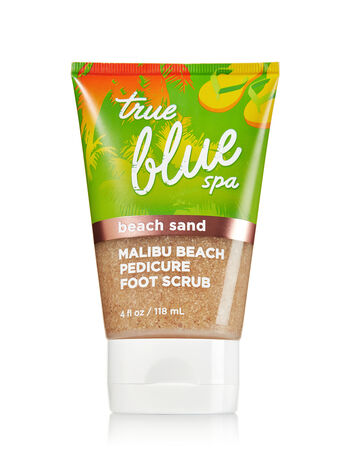 True Blue Spa Beach Sand Malibu Beach Pedicure Foot Scrub - Bath And Body Works