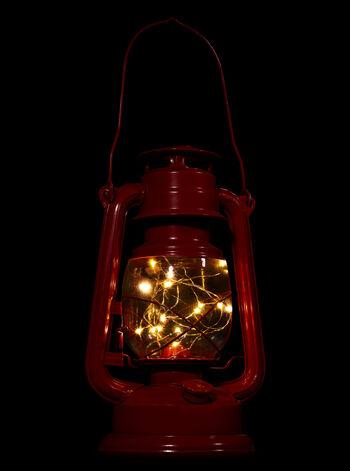 Red Light-Up Lantern Home Décor