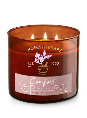 Aromatherapy Comfort - Vanilla & Patchouli 3-Wick Candle - Bath And Body Works
