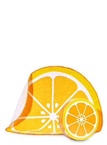 Orange Expandable Washcloth - Bath And Body Works
