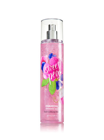 Signature Collection Sweet Pea Diamond Shimmer Mist - Bath And Body Works