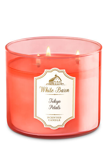White Barn Tokyo Petals 3-Wick Candle - Bath And Body Works