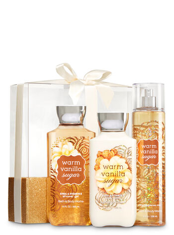 Signature Collection Warm Vanilla Sugar Wrapped with a Bow Gift Set - Bath And Body Works