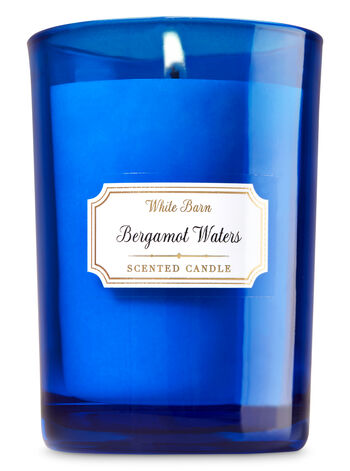 Bergamot Waters Medium Candle - Bath And Body Works