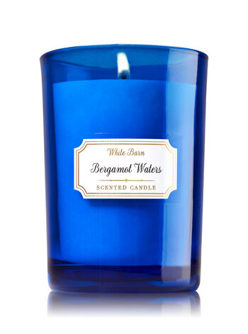 Bergamot Waters Medium Candle - Bath And Body Works
