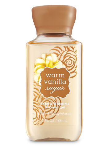Signature Collection Warm Vanilla Sugar Travel Size Shower Gel - Bath And Body Works