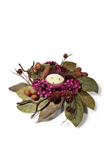 Plum Rose 3-Wick Candle Ring - Bath And Body Works