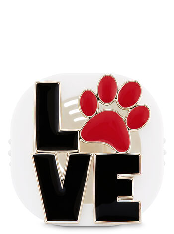 Love Paw Print Vent Clip Scentportable Holder