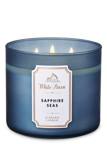 White Barn Sapphire Seas 3-Wick Candle - Bath And Body Works