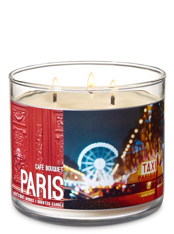 Café Bouquet 3-Wick Candle - Bath And Body Works