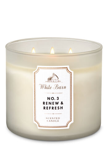 White Barn No. 3 Renew & Refresh 3-Wick Candle - Bath And Body Works