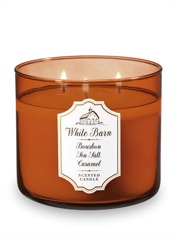 White Barn Bourbon Sea Salt Caramel 3-Wick Candle - Bath And Body Works