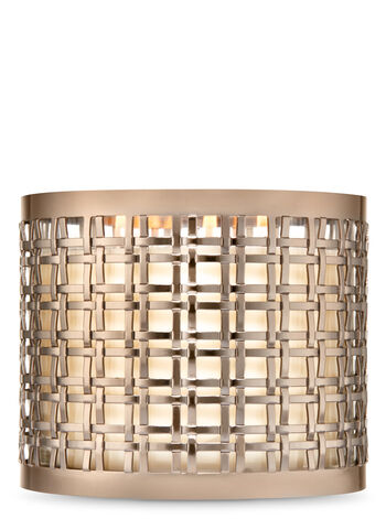 Brushed Champagne Double Weave 3-Wick Candle Sleeve