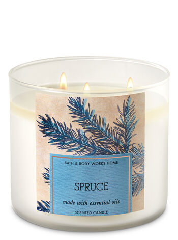 Spruce 3-Wick Candle - Bath And Body Works