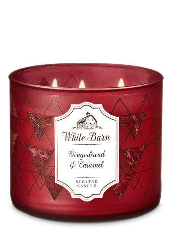 Gingerbread & Caramel 3-Wick Candle - Bath And Body Works