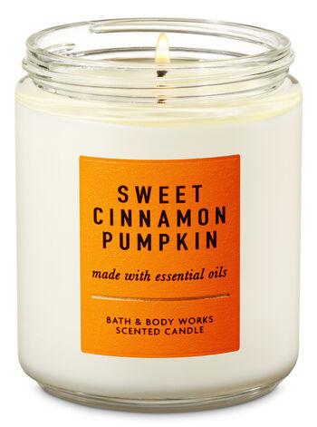 Sweet Cinnamon Pumpkin Single Wick Candle - Bath And Body Works