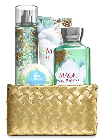 Magic in the Air Gold Woven Basket Gift Kit - Bath And Body Works