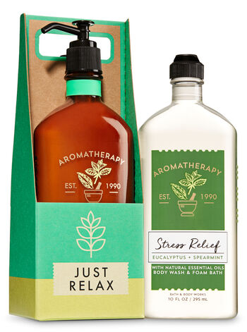 Aromatherapy Stress Relief - Eucalyptus & Spearmint Just Relax Gift Set - Bath And Body Works