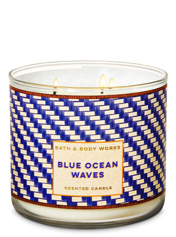 Blue Ocean Waves 3-Wick Candle - Bath And Body Works