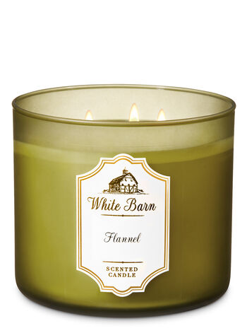 White Barn Flannel 3-Wick Candle - Bath And Body Works