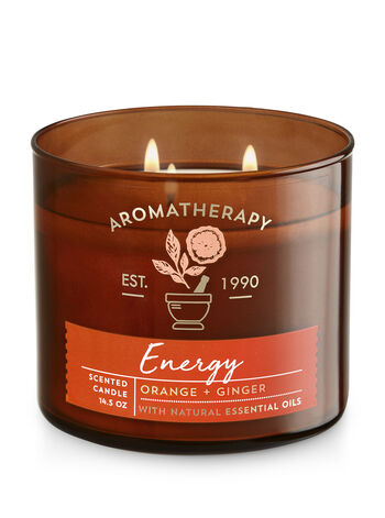 Aromatherapy Energy - Orange & Ginger 3-Wick Candle - Bath And Body Works