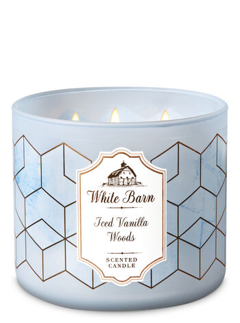 Iced Vanilla Woods 3-Wick Candle - Bath And Body Works
