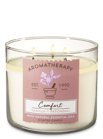Aromatherapy Vanilla & Patchouli 3-Wick Candle - Bath And Body Works