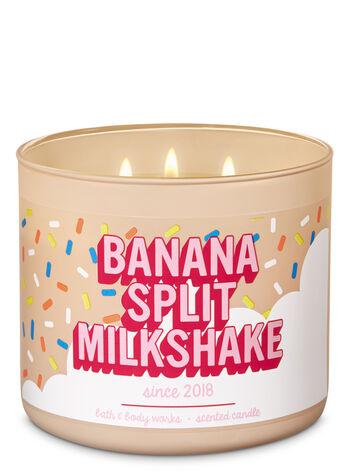 Banana Split Milkshake 3-Wick Candle - Bath And Body Works