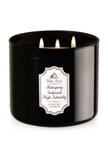 Mahogany Teakwood High Intensity 3-Wick Candle - Bath And Body Works