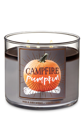 Campfire Pumpkin 3-Wick Candle - Bath And Body Works