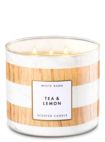 Tea & Lemon 3-Wick Candle - Bath And Body Works