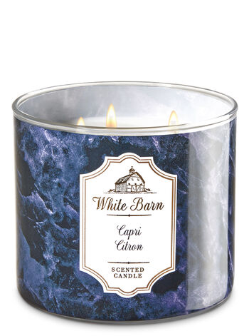 White Barn Capri Citron 3-Wick Candle - Bath And Body Works