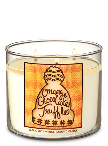 Orange Chocolate Truffle 3-Wick Candle - Bath And Body Works