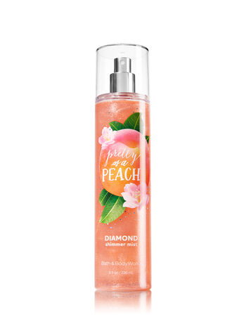 Signature Collection Pretty as a Peach Diamond Shimmer Mist - Bath And Body Works