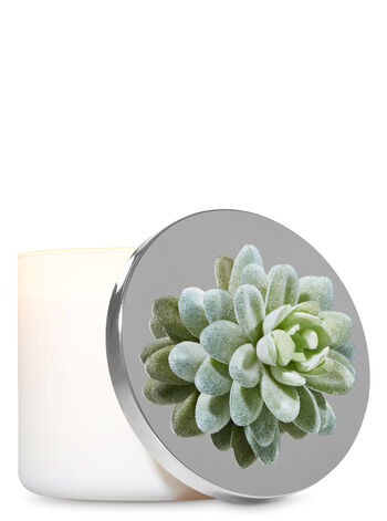 Light Green Succulent 3-Wick Candle Magnet - Bath And Body Works