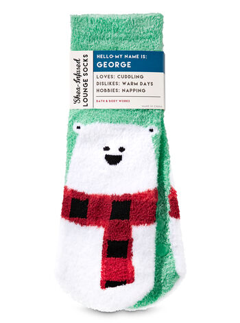George The Polar Bear Shea-Infused Lounge Socks - Bath And Body Works