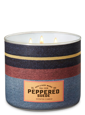 Peppered Suede 3-Wick Candle - Bath And Body Works