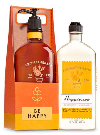 Aromatherapy Happiness - Bergamot & Mandarin Be Happy Gift Set - Bath And Body Works